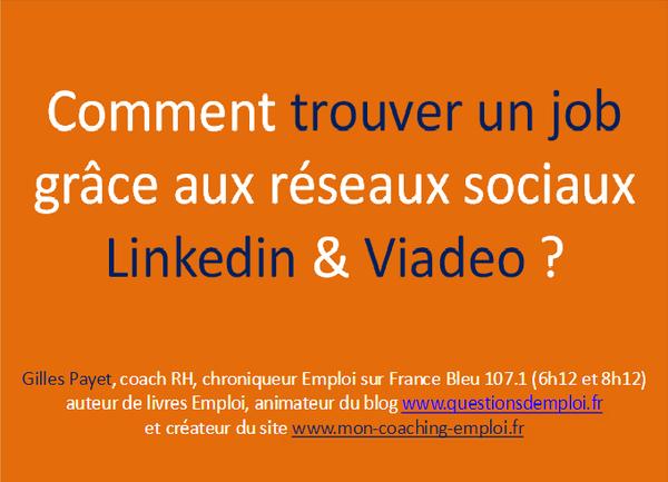 comment trouver un job gr u00e2ce au r u00e9seaux sociaux linkedin et viadeo