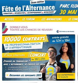 Fete de l'aternance 2013, questionsdemploi.fr