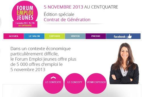 Forum emploi juenes 2013, centre 104, questionsdemploi.fr