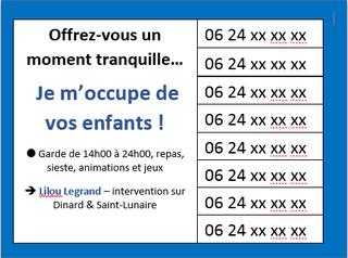 Job d'été affichette, www.questionsdemploi.fr