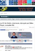 20minutes.fr, CV de Cédric, Gilles Payet, 25 juillet 2014