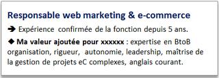 Exemple accroche CV, www.questionsdemploi.fr