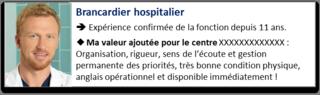 Accroche CV brancardier hospitalier