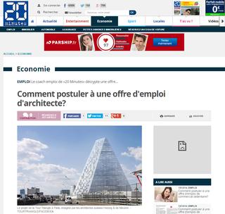 20minutes.fr, Gilles Payet, audit offre architecte