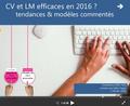 Conférence Cv et LM, modèles 2016
