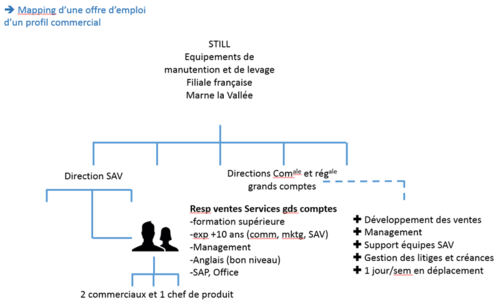 Mapping offre emploi commercial