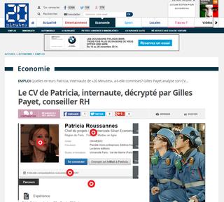 Analyse par Gilles Payet du profil Linkedin de Patricia, 20minutes.fr