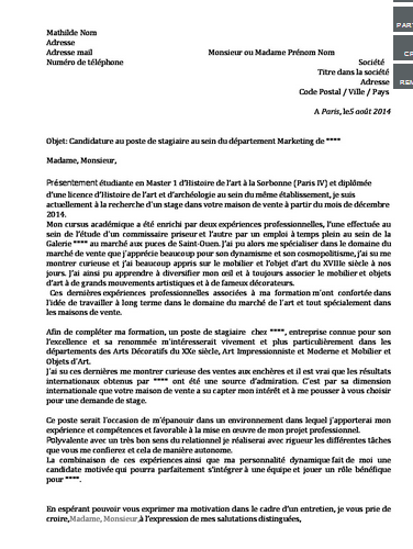 cover letter example  exemple de lettre de motivation