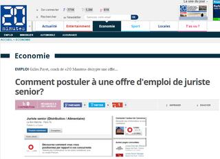 Conseils CV et lettre, offre juriste senior, gilles payet, 20minutes.fr
