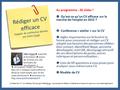 Conference CV efficace, Gilles payet