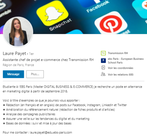tips linkedin  1   les secrets d u0026 39 un bon resume sur linkedin  voici 3 exemples
