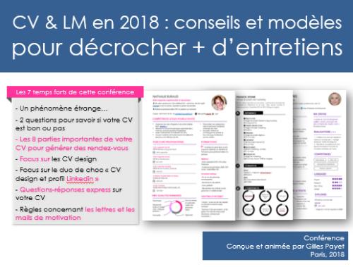 Conference CV et LM