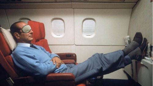 Jacques Chirac  sieste avion