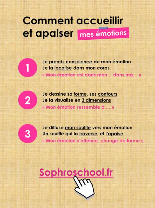 Apaiser mes émotions  3 étapes  sophroschool.fr